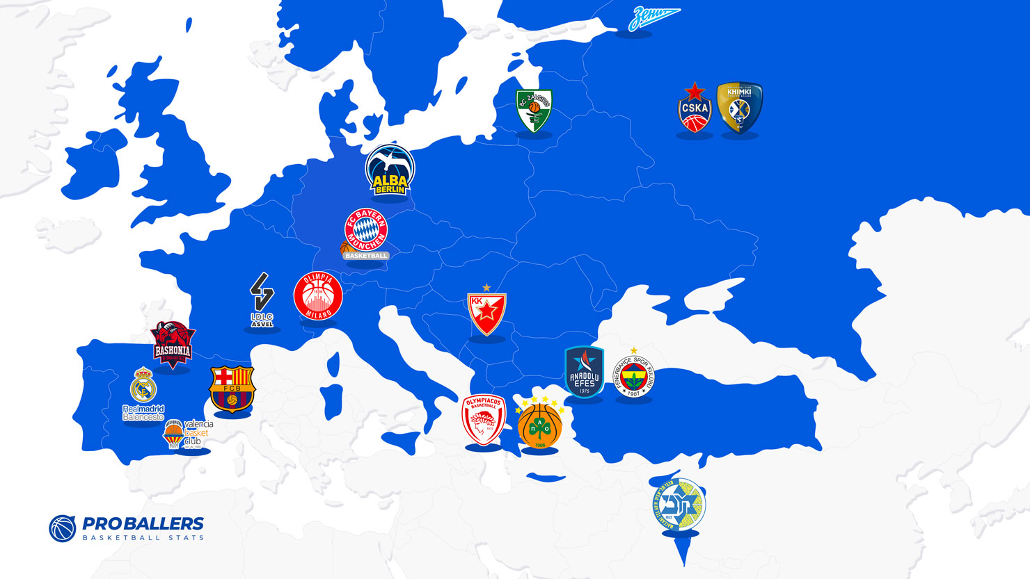 Euroleague Map